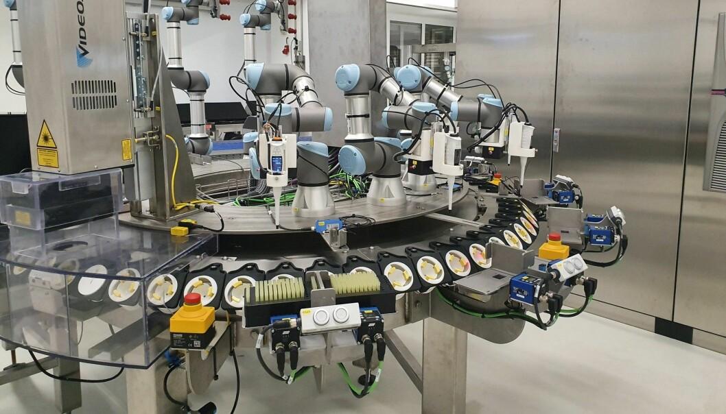 Slik ser karusellen ut som skal skille eggene etter kjønn. Foto: Respeggt