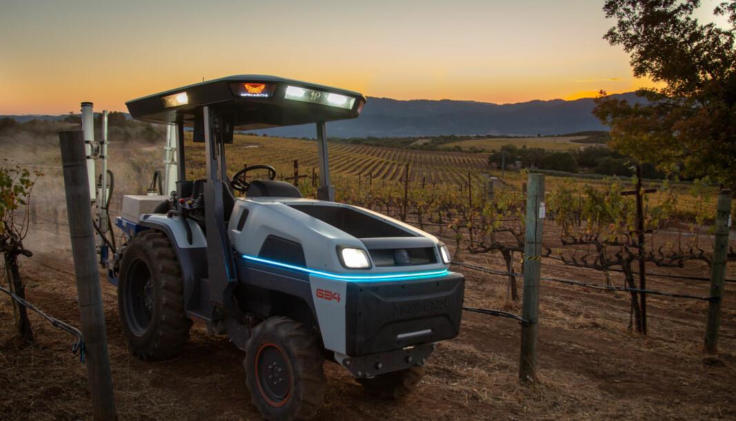 Siste tilskuddet av elektriske traktorer er Monarch fra USA.