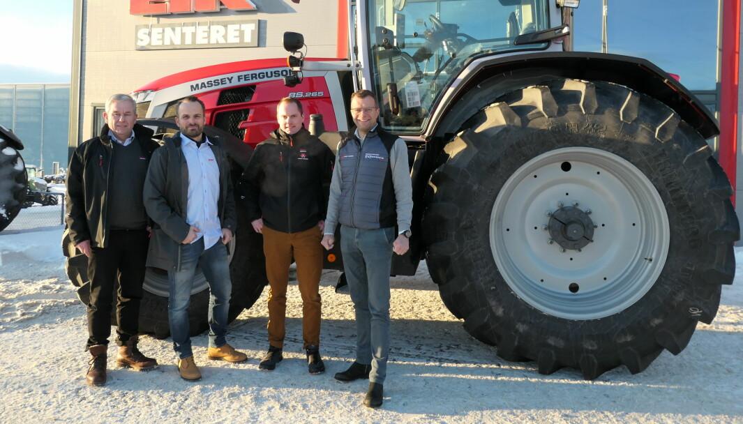 Ledergruppa i Eiksenteret Midt-Norge består nå av (f.v.) Øyvind Wekre, Ketil Nypan, Ola Tande og Jon Magne Sæter.