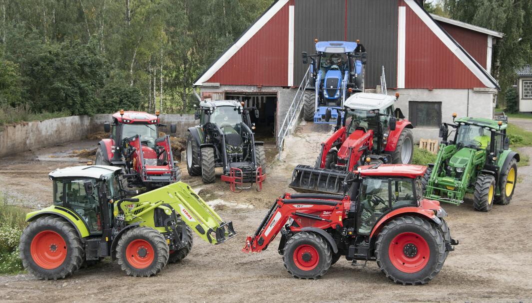 I dette bildet er det kun et traktormerke som gjør det bedre i juli 2021 enn i 2020, New Holland.