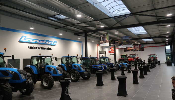 Landini og McCormick blir markedsført av samme importør i mange land. Bildet er fra visningssenteret til Argo Tractors France