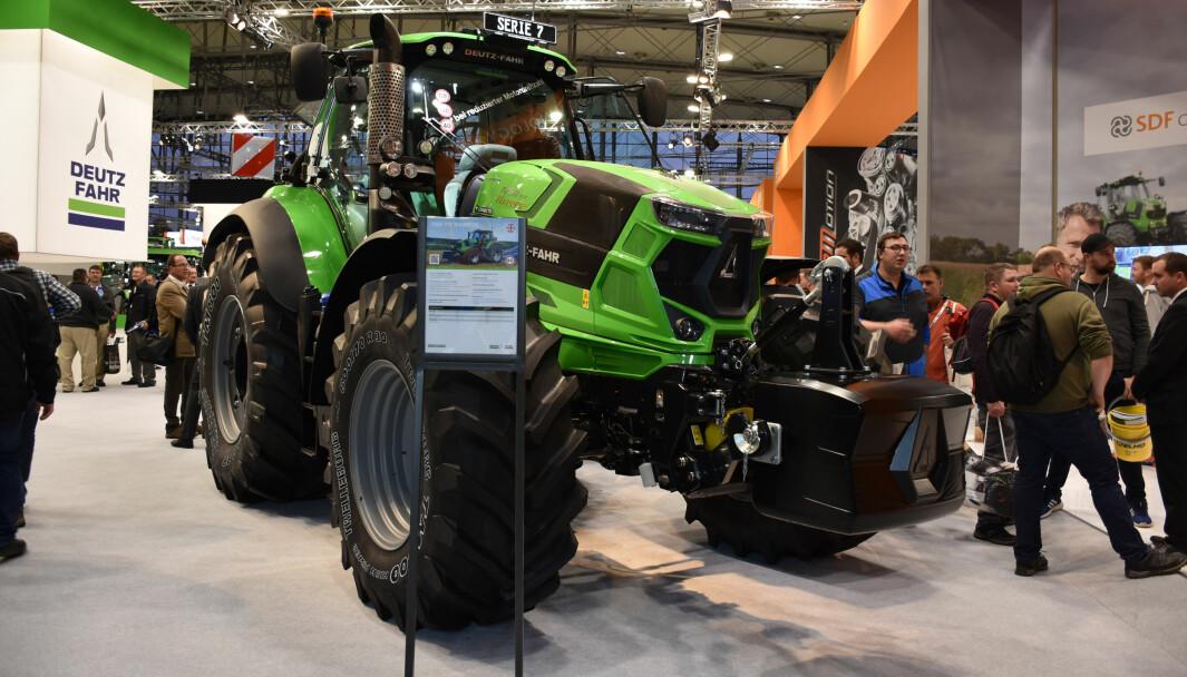 Deutz-Fahr på Agritechnica i 2019, i 2021 blir de ikke å finne der.