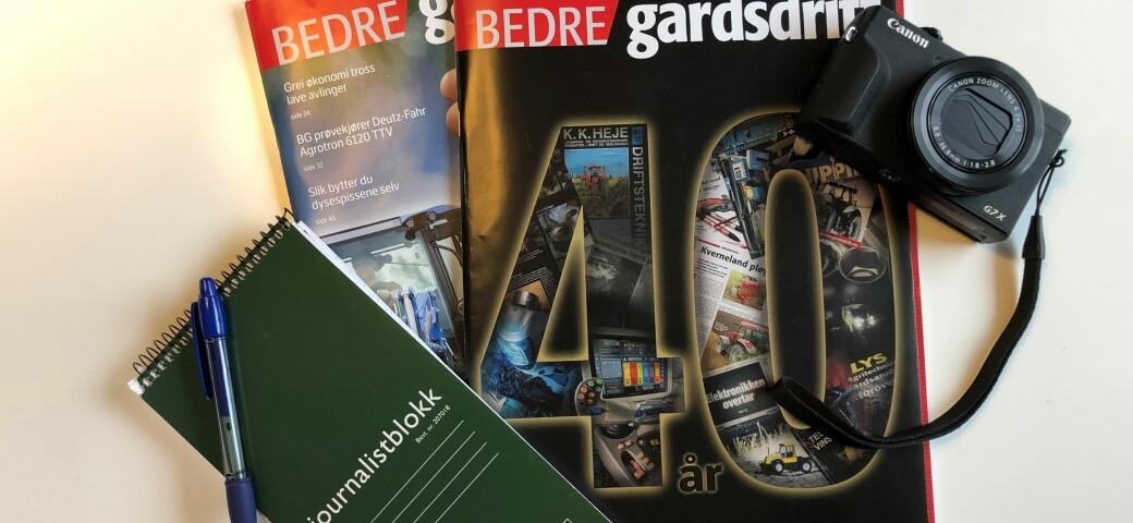 Bedre Gardsdrift fyller 40 år i år. Vi feirer med å dele ut dagspass til 40 vinnere.