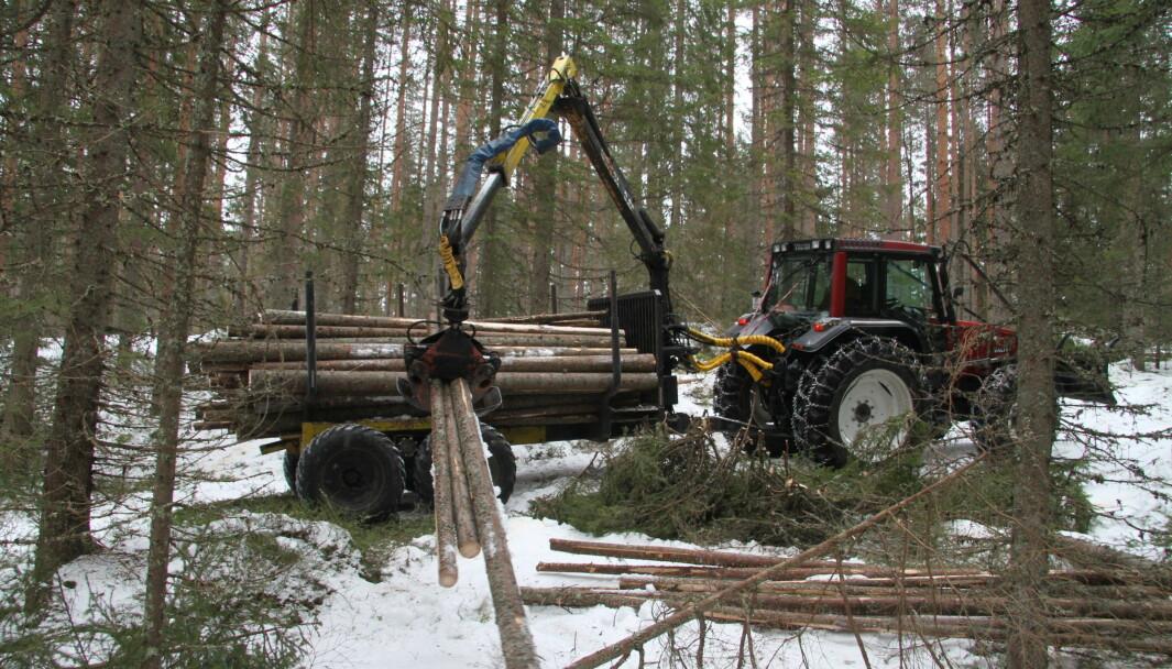 Ole Arne Holth har en 10 tonns Moheda-henger med hydraulisk drift på boggien.