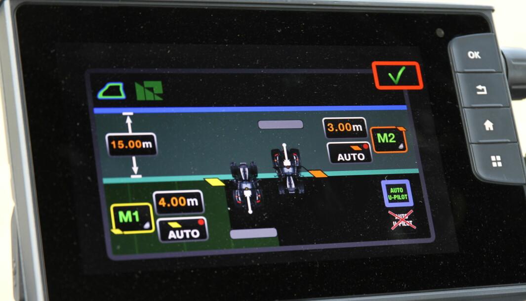 Auto U-pilot er nytt på N5. Det kan være nyttig i arbeid der det er viktig å unngå overlapp eller glipper, for eksempel ved såing.