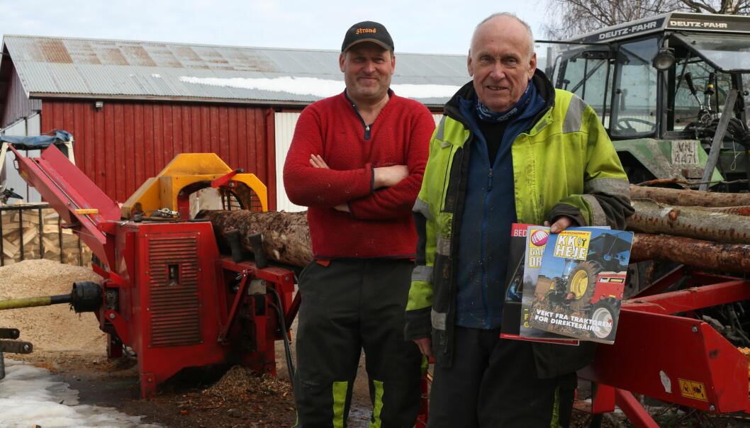 Ole Westby var en av de aller første abonnentene av K.K. Heje. Nå deler han bladet med sønnen Bjørn.