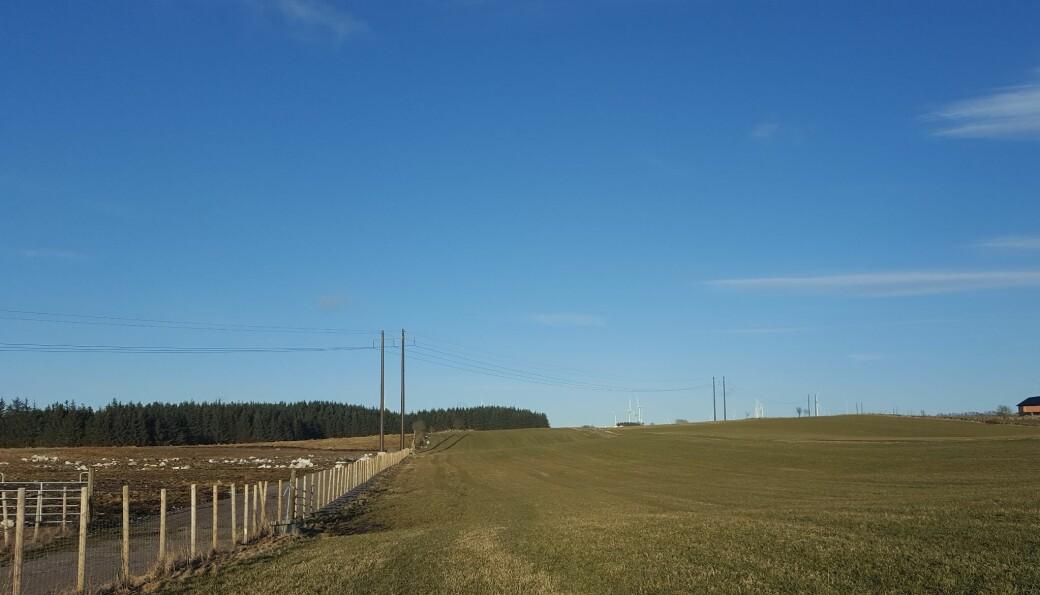 Bøndene får erstatning for hvert mastepunkt i den nye kraftlinja til Opstad.