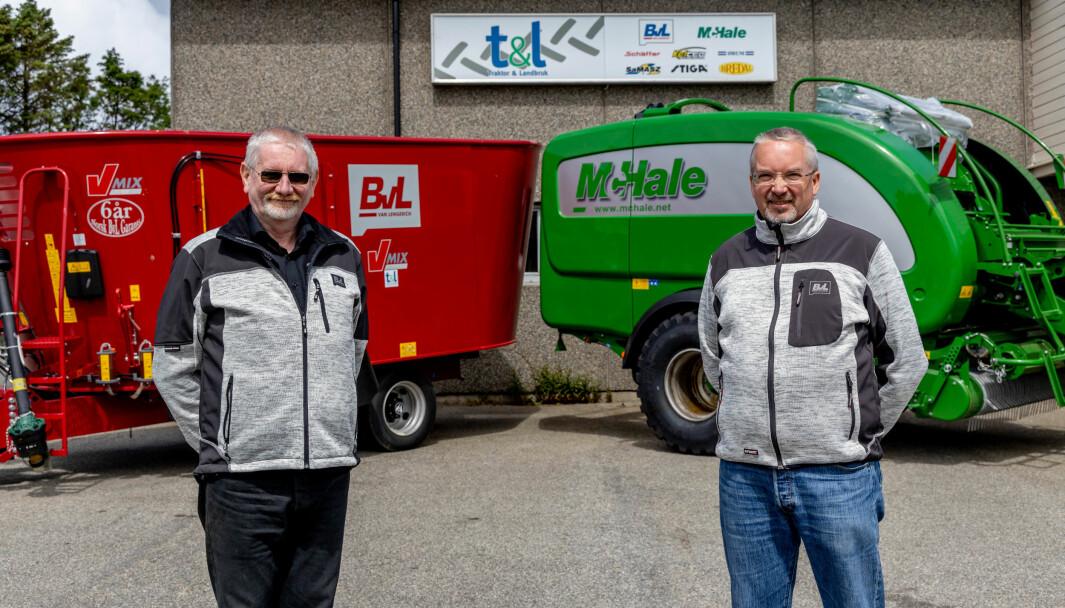 Knut Helliesen i Traktor & Landbruk får Magnus Østby (t.h.) som kollega.