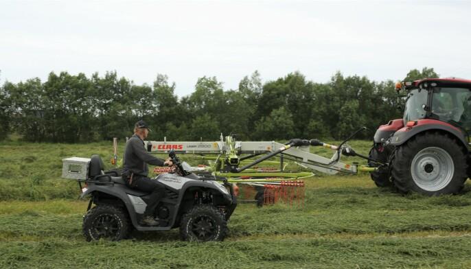 Med ATV kunne vi også bedømme hvordan rivene jobbet underveis.