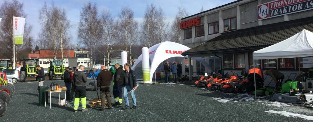 Fra Trøndelag Traktor til Lena Maskin Verdal til Norwegian Agro Verdal. Foto: NAM