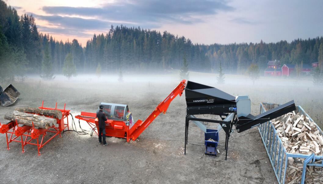 Arne Røed er ansatt i Agro Traders AS, importøren av vedmaskiner fra Hakki Pilke
